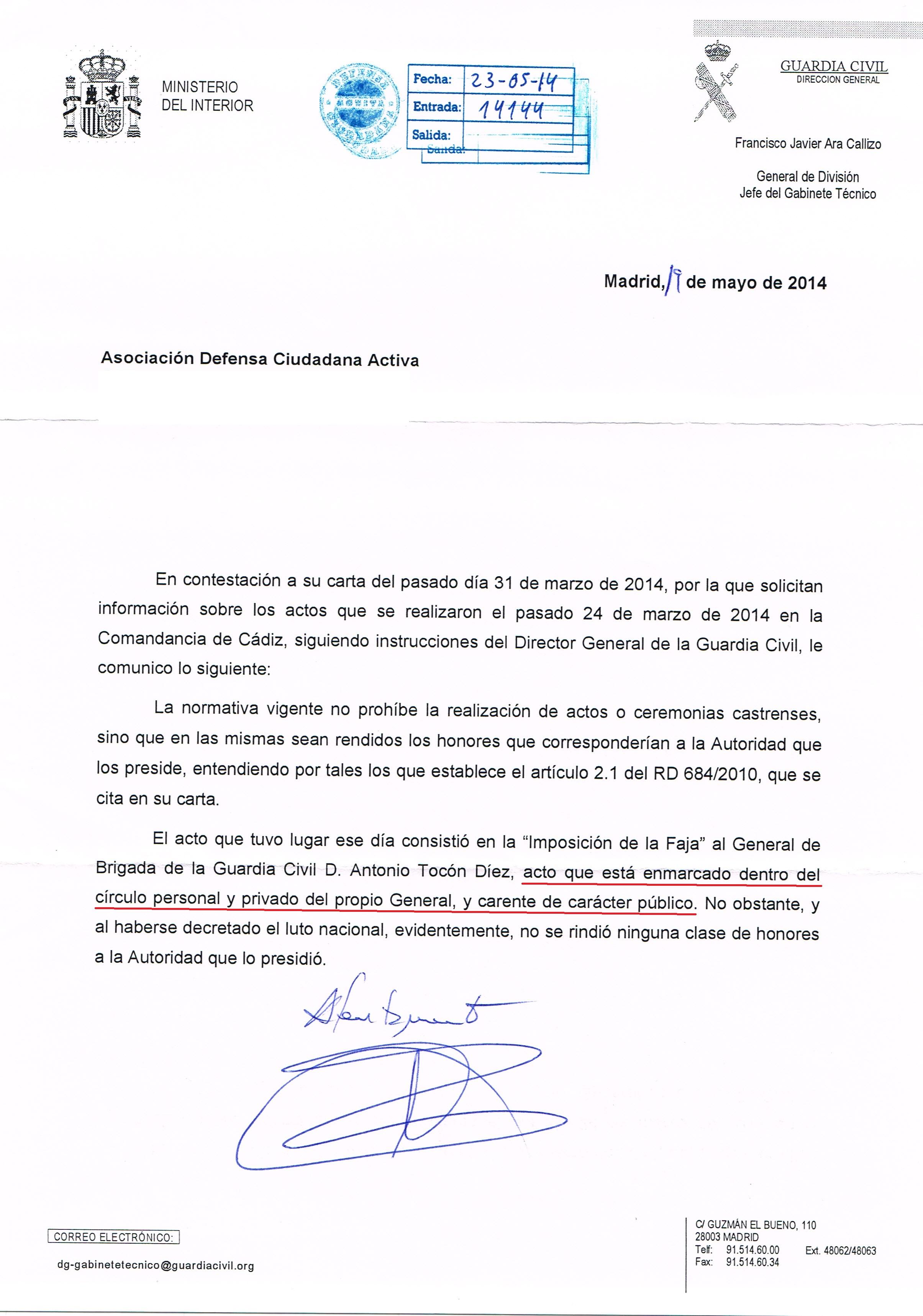 El Ministerio del Interior califica los actos de Cádiz como carentes ...