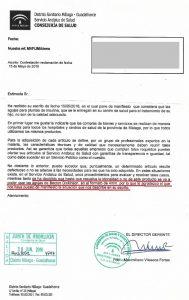 Contestación D.S. Málaga