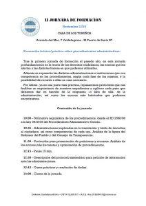 II Jornada de Formación DCA